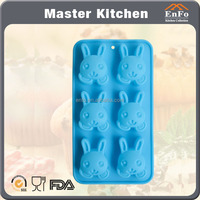 6 rabbit silicone cake mould
