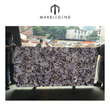 Agate-Backlit amethyst stone slabs for wall and countertop