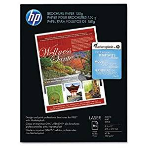 "Hp - Color Laser Brochure Paper 98 Brightness 40Lb 8-1/2 X 11 White 150 Shts/Pk ""Product Category: Paper & Printable Media/Printer Paper"""