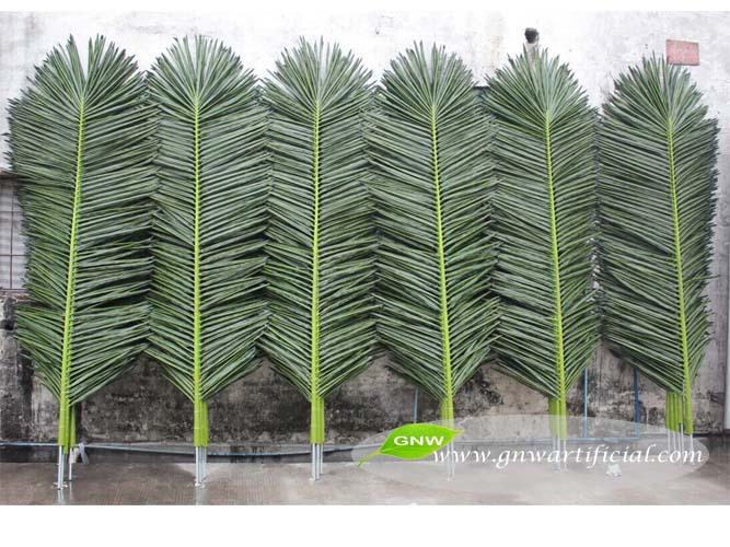 Rbol artificial hojas oval pl stico de seda hojas de - Palmeras de plastico ...