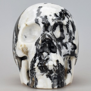 Manufacture Zebra Jasper Large Crystal Skull for Room Decor