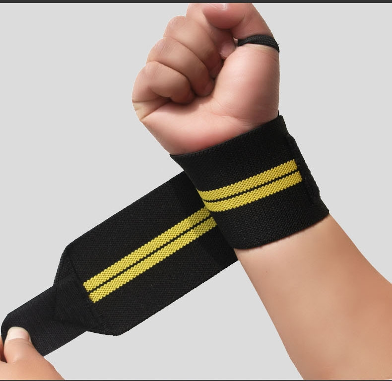 Padded Wrist Wraps <strong>Weight</strong> Lifting Training Gym Straps Support Grip Gloves