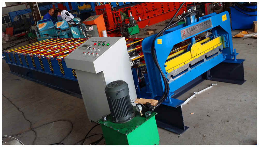 Dixin export to Ghana roof tile roll forming machine