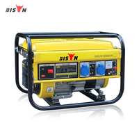 BISON(CHINA) BS2500 2kw 2kva Copper Wire Portable Groupe Electrogene Gasoline Generator for Sale