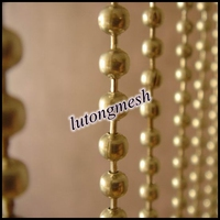 Decorative string curtain/String door curtain with metal beads