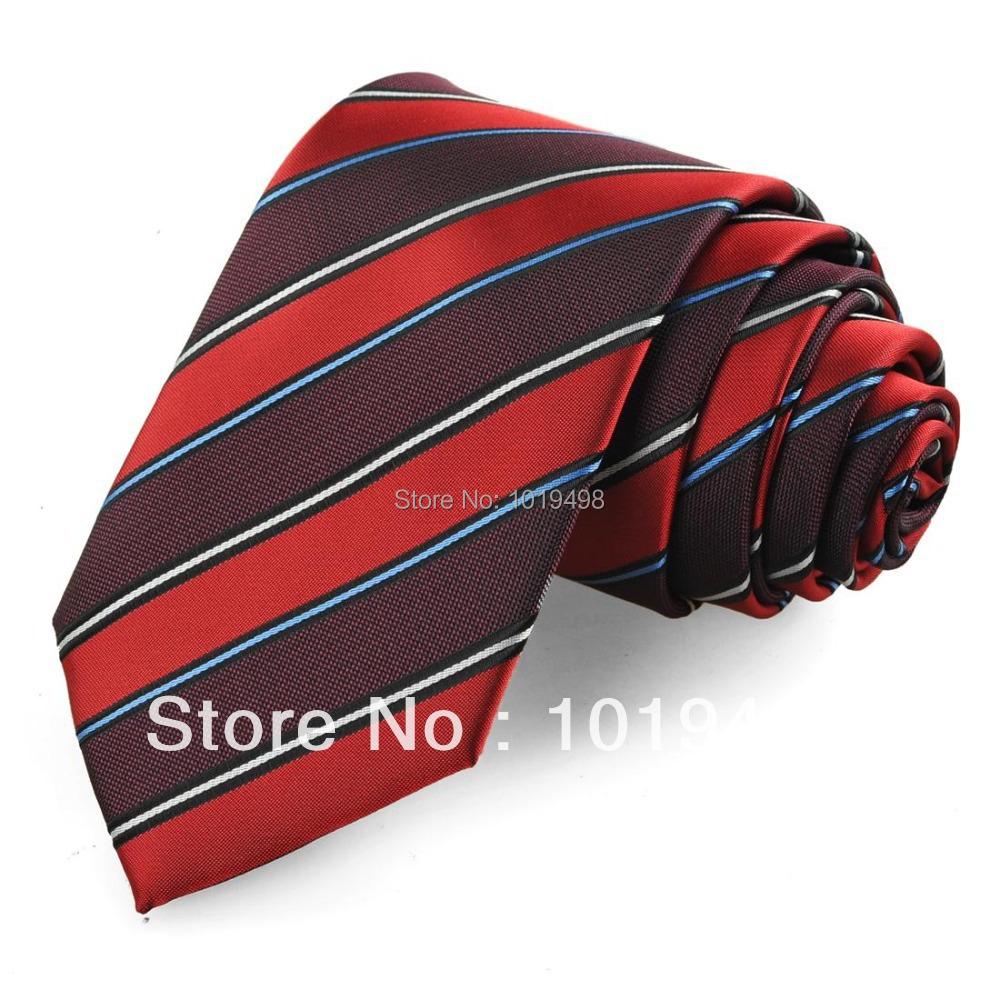 1bd324f2655 Buy Hight quality mens ties neckties silk 1pcs Striped red Men Suit tie  Formal Necktie Wedding Party Gift