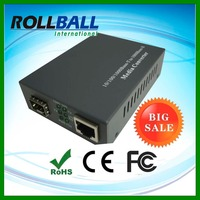 Single fiber dual fiber optional 10/100/1000M gigabit fiber to rj45 converter sfp media converter