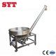 stainless steel round hopper auger screw conveyor for salt
