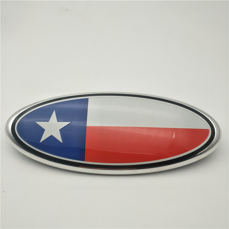 Custom logo 9 Inch Oval Front Grille Emblem Badge Decal Tailgate For 2004-2014 F-150