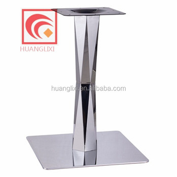 square stainless steel shining table legs for restaurant - Furniture Legs Square