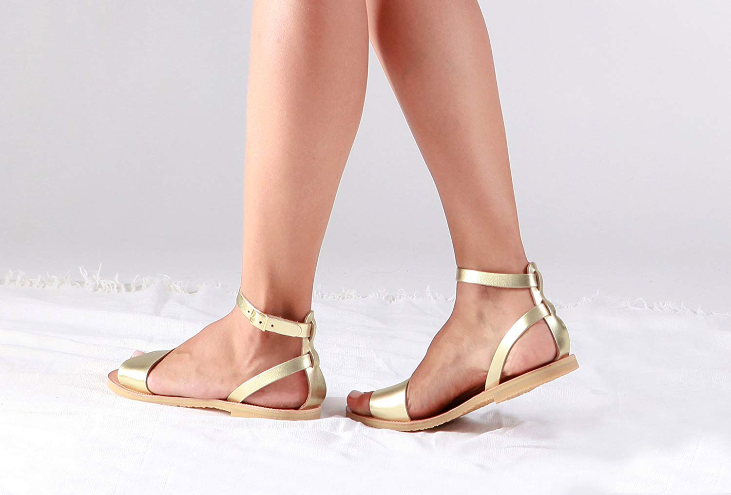 21d4e1fa3075a Cheap Gold Leather Sandals, find Gold Leather Sandals deals on line ...