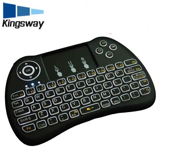 New Product Multi Color Back Light 2.4 wireless MINI Keyboard H9 PRO Touchpad MINI Keyboard