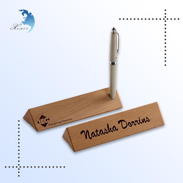 Wooden Office Gifts ~ Custom design logo engraved solid wood gifts for office
