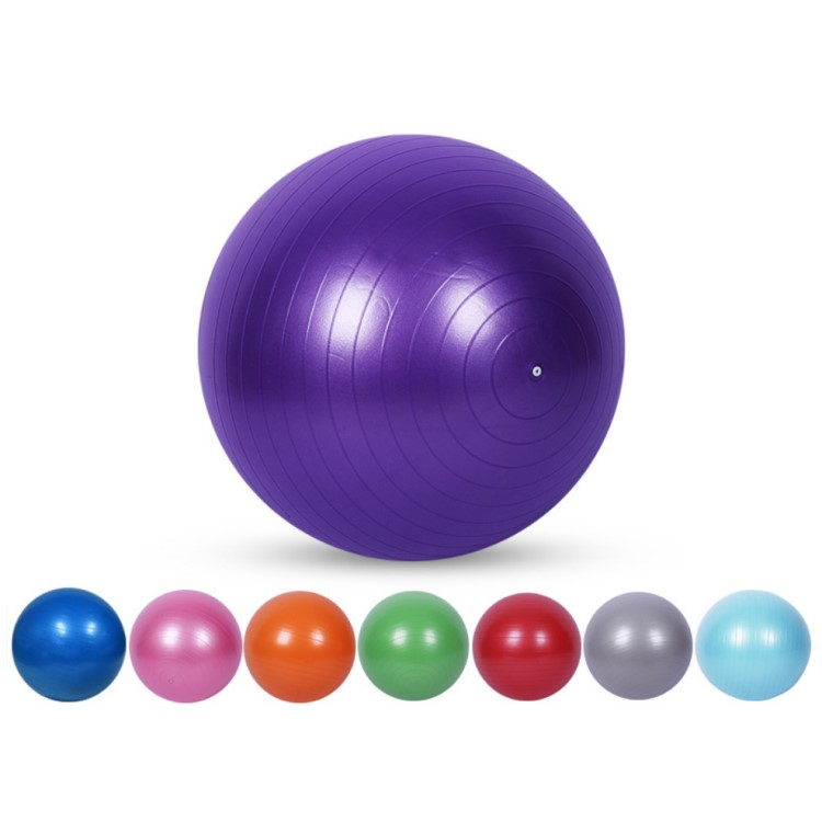 65cm pvc colorful non-toxic exercise gym yoga <strong>ball</strong> with custom logo