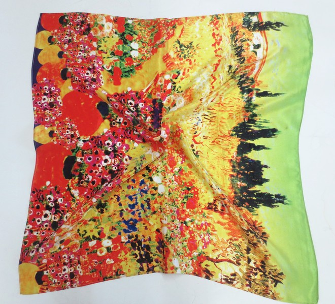 Fashionable wholesale real silk Lady scarf