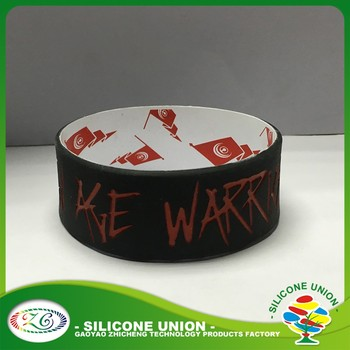 3dc04b1af Custom 1 inch spay oil paint debossed fill in ink silk print silicone  wristbands no minimum