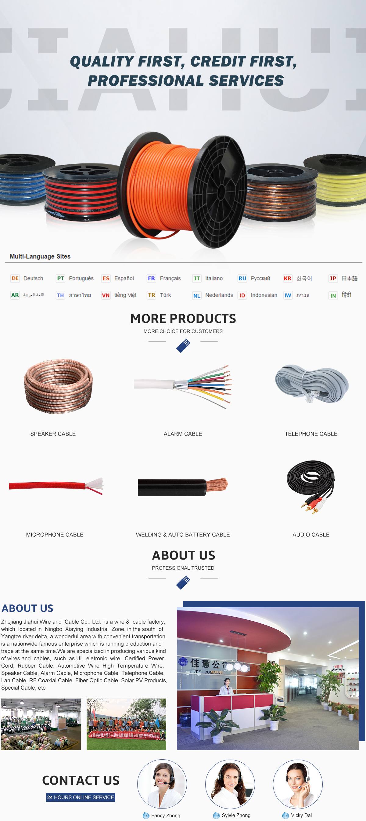 Zhejiang Jiahui Wire And Cable Co., Ltd. - Speaker Cable ...