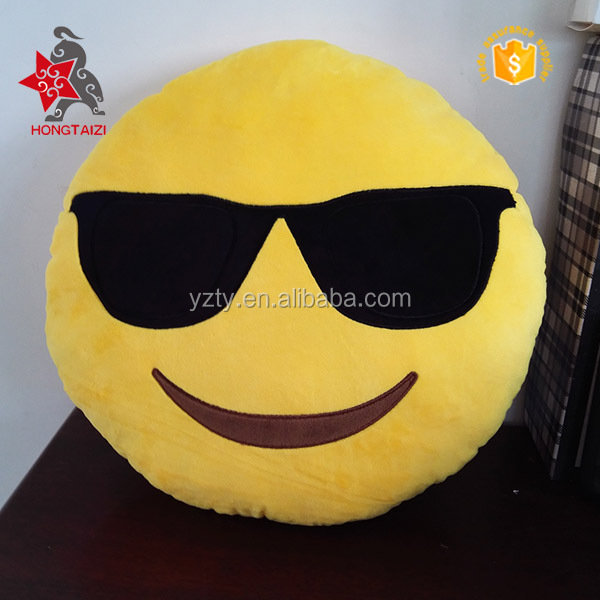 2016 China stuffed smiley face soft toys emoji pillows