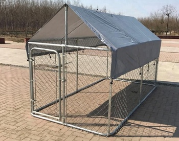 Large Dog House Cover Outdoor Roof Cage Kennel Canopy Pen Crate Top Shade 10' * 10'
