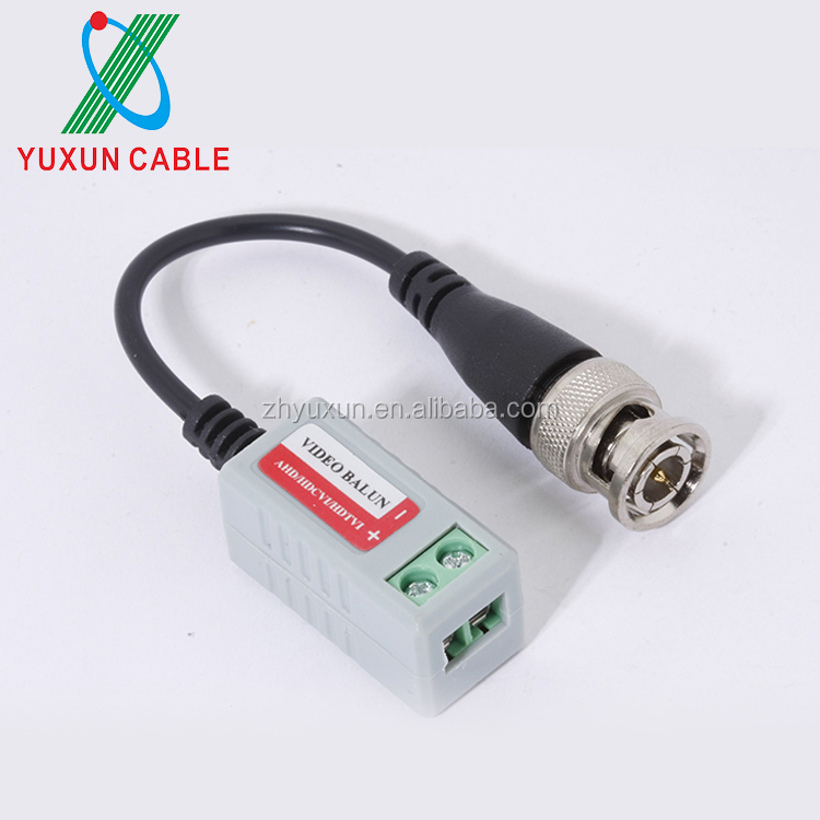 YUXUN CCTV Power Video Balun BNC to RJ45 Converter With Power