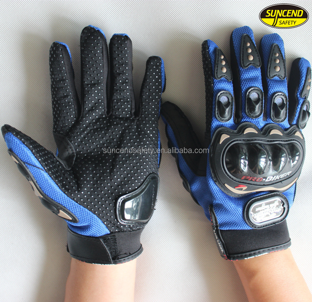 Men's sport motorcycle silicone finger tips gloves