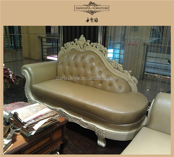 3048c French Style Leather Sofa Suite Chaise Lounge