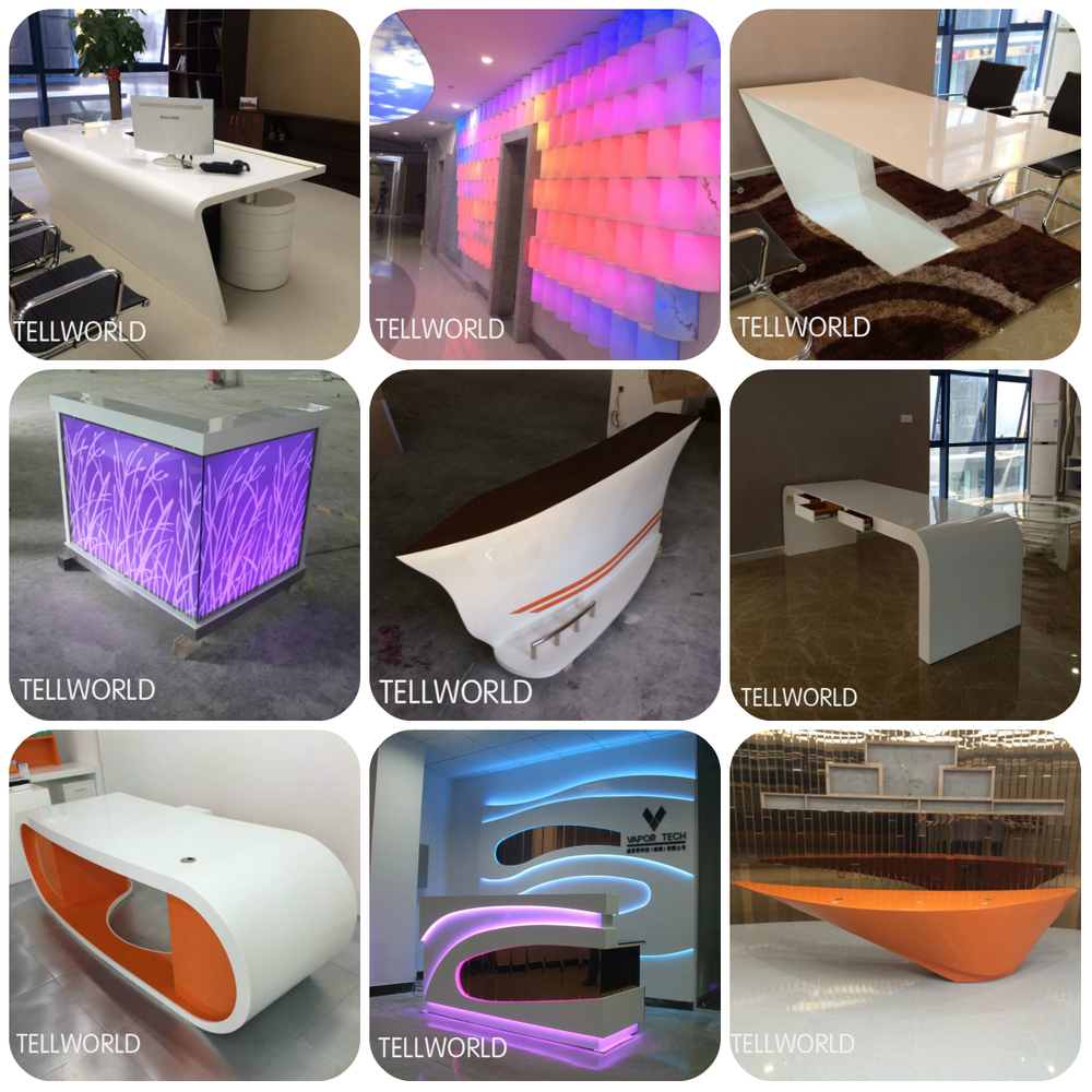 Customized Faux Stone Led Light Counter Juice Bar Counter For Sale ...