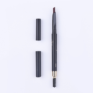 Discounted makeup soft waterproof eyebrow pen with brush flat shape eyebrow