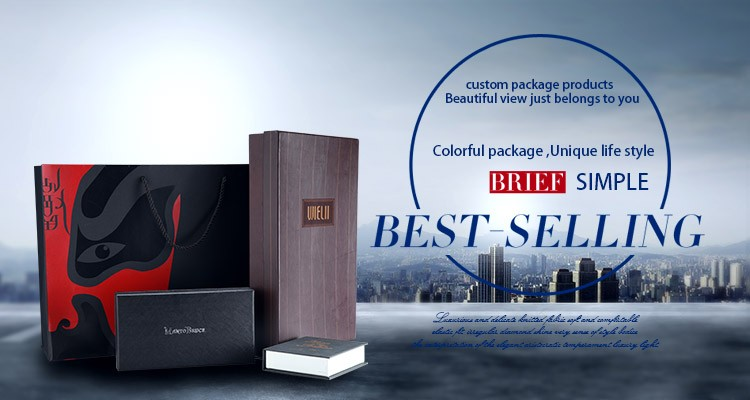 Wholesale Elegant Apparel Cosmetic Black paper craft box