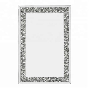 new decorative framed sparkle bling crystal diamond wall mirror