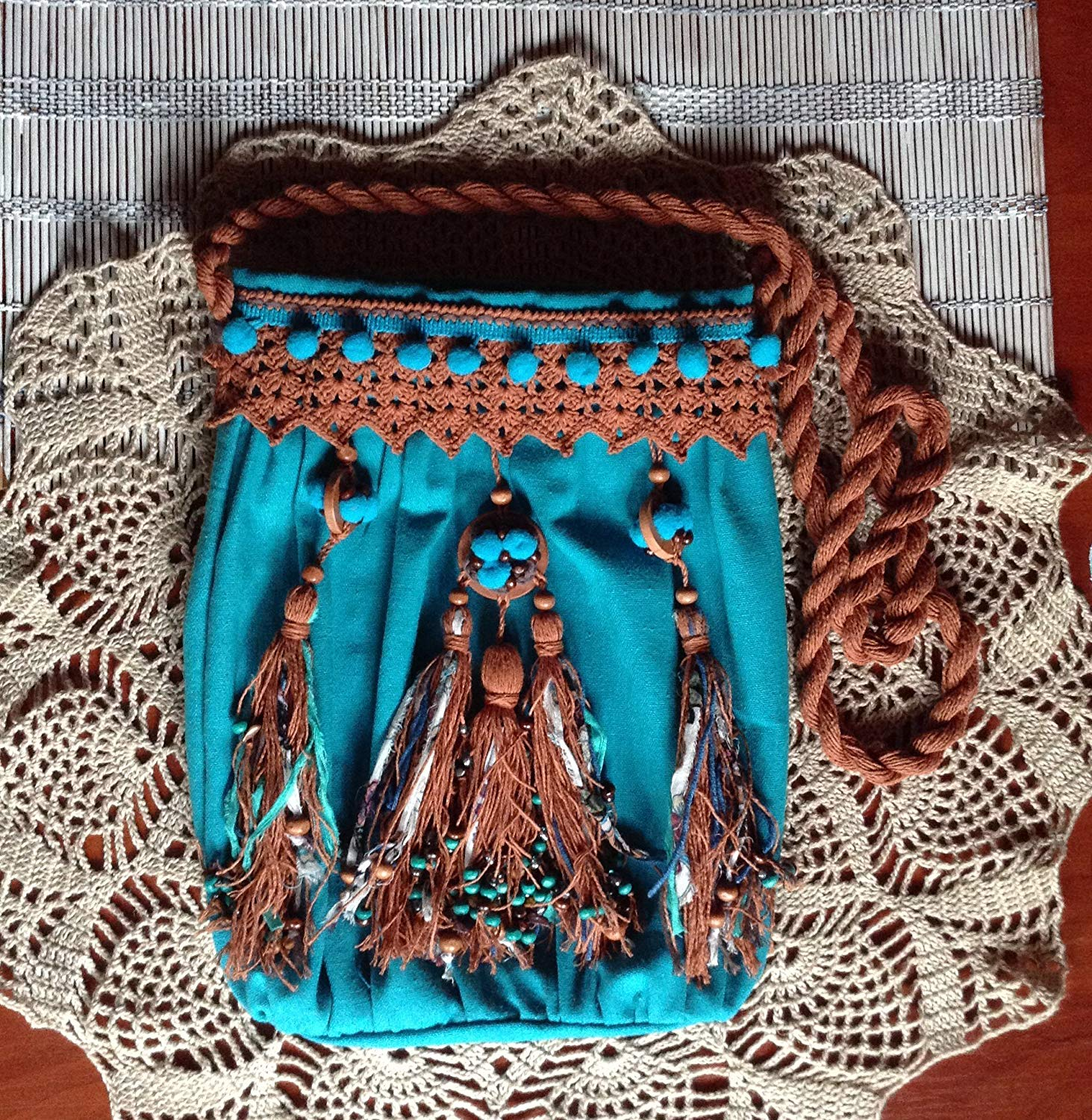 Turquoise Boho Bag, Boho Turquoise Bag, Turquoise Summer Bag, Indian Bag, Bohemian Bags, Boho Crossbody Bag