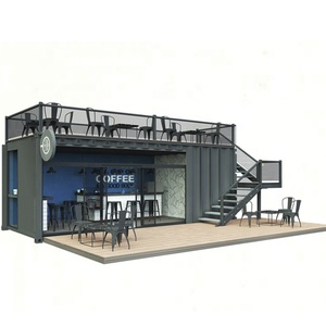 Container coffee shop modern small steel structure coffee kiosk house