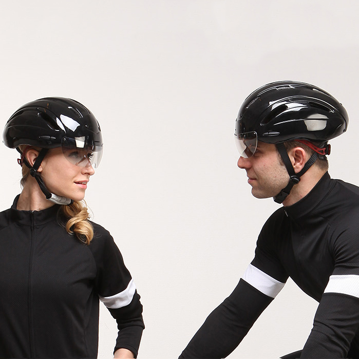 Aerodynamic-road-racing-bike-helmet-with-goggle