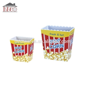 melamine party custom plastic popcorn bowl, popcorn bucket