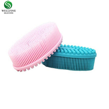 Wholesale Gentle Skin massage Body bath brush soft baby shower silicone bath brush