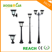 Classic twin heads solar products street lamp decorative garden solar lamp post