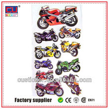 Hot sell customized super bike stickers