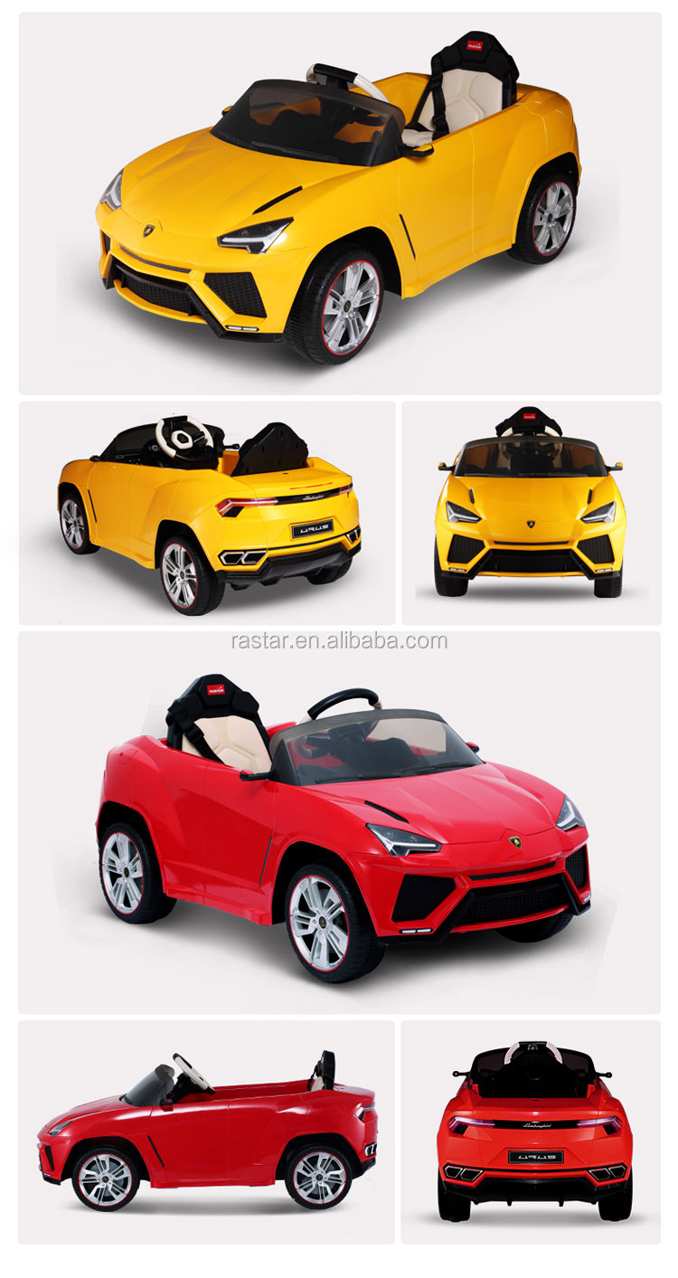RASTAR new model Lamborghini High quality 12V mini real kids car ride on toy car for sale