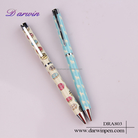2016 unique design kawaii cute pattern beautiful gift pens for kids