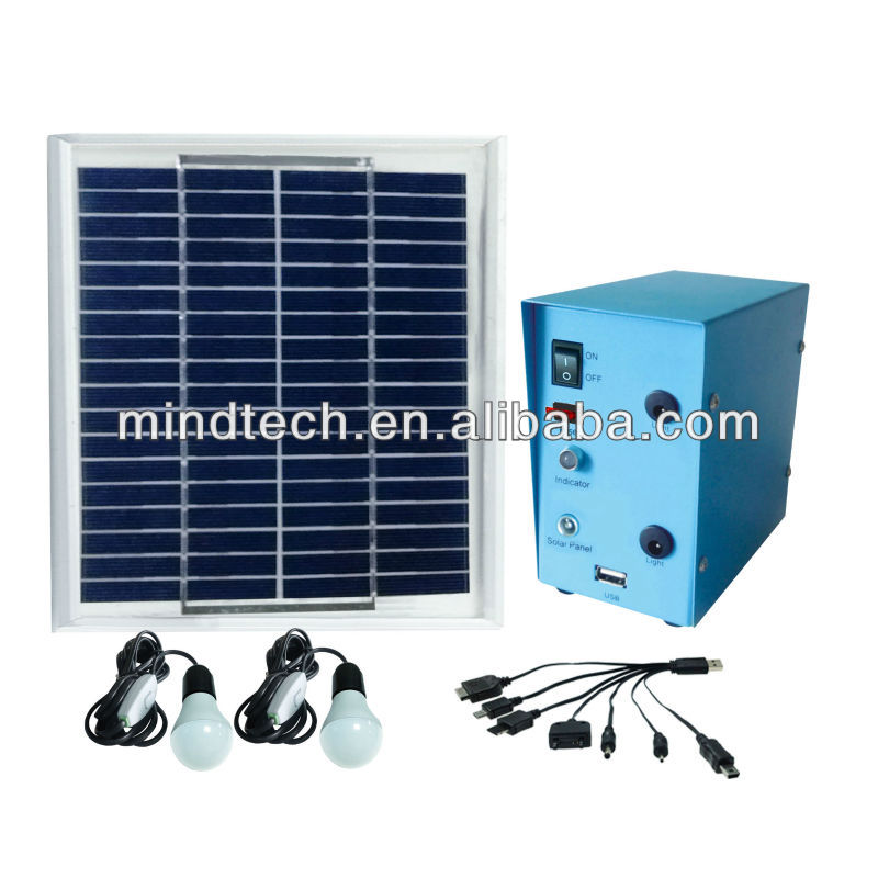 5w renewable solar panel solar light and solar energy system to run 12v led bulb