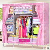 PN home furniture clothes storage cabinet non woven large capacity organizer bedroom customize modern bedroom top the wardrobe