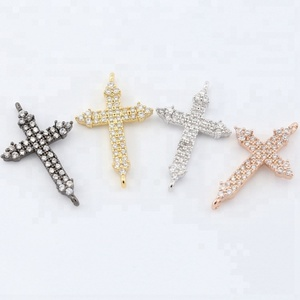 Jewelry Findings & Components Connector Cross Plated Christian Jewelry Bracelet Accessories