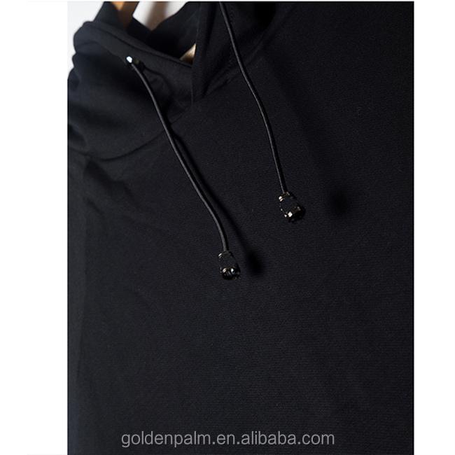 e815484e9279dc Customized Clothing Kangaroo Pocket Plain Black Sleeveless Hoodie ...