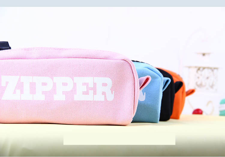 Fasion large capacity multifuction pencil case girls gift bag big zipper soft pen box