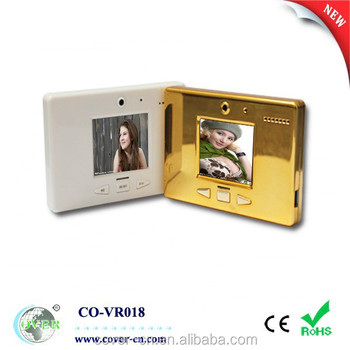 Mini 1.8 inch video message recorder with magnet, fridge magenet sticker