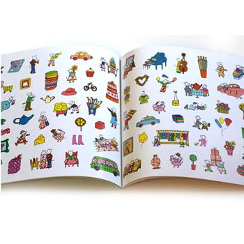 Children sticker book printing custom sticker book design