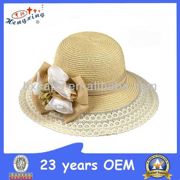 Fashion church ladies straw hats,mexican straw hats