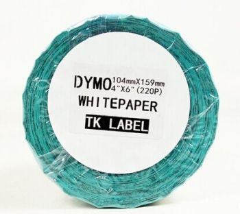 DYMO LW Extra-Large Shipping Labels for LabelWriter Label Printers, White, 4'' x 6'', 1 roll of 220 (1744907)
