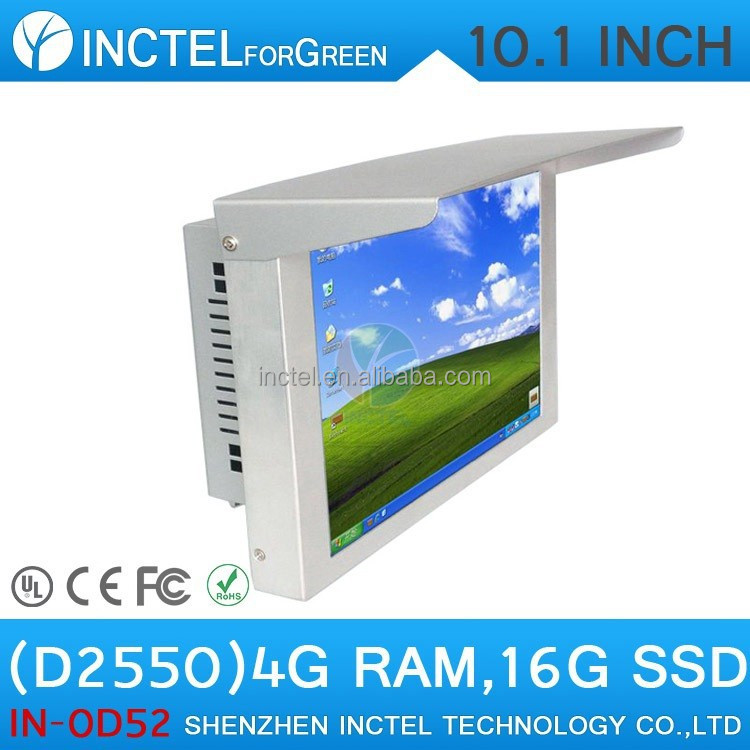 "Desktop Computer ALL IN ONE PCs with 10"" LED Gtouch AbonTouch high temperature 5 wire resistive touchscreen IP61 standard"