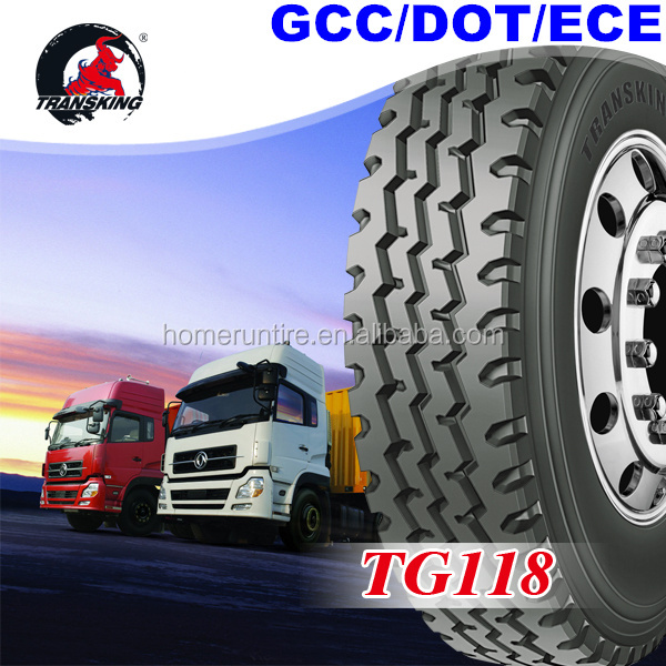 Japan Technology TRANSKING Brand 1200r20, 1200r24 tire, truck tyre 315/80r22.5 for sale with GCC,ECE,DOT in Middle East Market